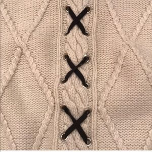 Zara Sweaters - Turtleneck Sweater with Lace Detail